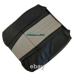 03 Ford F150 Harley-Davidson front driver COMPLETE set seat cover 2 tone Black