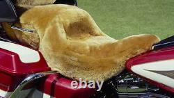 100% Merino Sheepskin Motorcycle Step Seat Cover Honda/harley Etc. Tailor Made