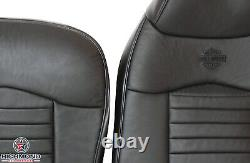 2000 Ford F-150 Harley-Davidson -Driver Side Complete Leather Seat Covers Black