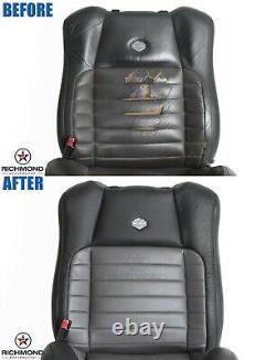 2000 Ford F-150 Harley-Davidson -Driver Side Lean Back Leather Seat Cover Black