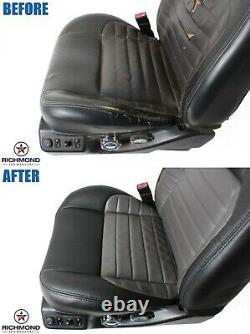 2000 Ford F-150 Harley-Davidson QUAD Driver Side Bottom Leather Seat Cover BLACK