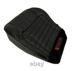2001-2003 Ford F150 Harley Davidson Driver Side Bottom Leather Seat Cover Black