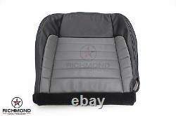 2002 F150 Harley Davidson -Driver Bottom Leather Seat Cover 2-Tone Black/Gray