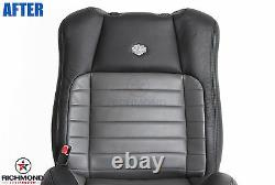 2002 F150 Harley Davidson-Driver Lean Back Leather Seat Cover 2-Tone Black/Gray