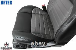 2002 F150 Harley Davidson-Passenger Bottom Leather Seat Cover 2-Tone Black/Gray