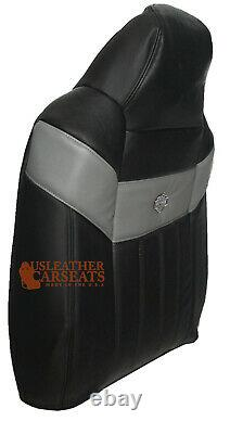 2004-2007 Ford F250 Harley Davidson Driver Lean Back Leather Seat Cover BLACK