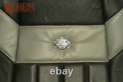 2005 Ford F250 Harley Davidson Driver Side Lean Back Leather Seat Cover BLACK