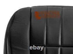 2006 2007 Ford F250 Harley Davidson Driver Side Bottom Leather Seat Cover BLACK