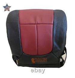 2010-2012 Ford F150 Driver Bottom Leather Perf Vinyl seat cover 2 tone Black/Red