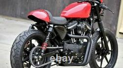Burly Brand Black Snappy Solo Seat Tail Section Harley Sportster XL Café Racer