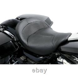 Danny Gray BigIST Black Leather Solo Wide Saddle Seat Harley Touring 08-20