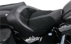Danny Gray BigIST Solo Air Seat Leather Black Harley Davidson FA-DGE-0282