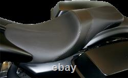 Danny Gray Black Leather Vinyl Weekday Seat for 97-07 Harley Touring FLHR FLHX