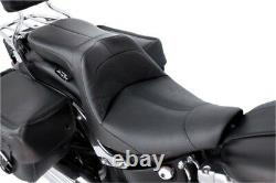 Danny Gray LowIST 2-Up Seat Leather Black Harley Davidson FatBoy/Softail 66-7651