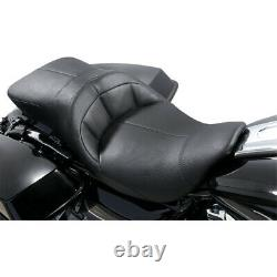 Danny Gray TourIST 2-Up Air Touring Black Vinyl Seat for Harley FLH/T 08-20
