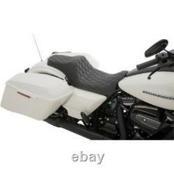 Drag Specialties Predator III Seat Black Double Diamond for Harley 08-19 Touring