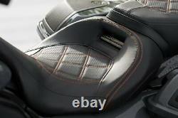 Genuine 08-20 CVO Harley Touring Rider Solo & Passenger Pillion seat OEM