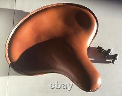 Harley Knucklehead UL WL Panhead Tan Solo Saddle Seat Cobbler Edge 1934-Up