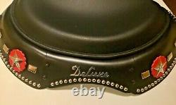 Harley Panhead Knucklehead Deluxe Solo Saddle Seat with Skirt Rosettes & Spots