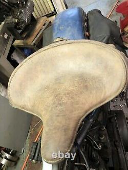Harley davidson 1939 deluxe solo seat knucklehead panhead flathead bates