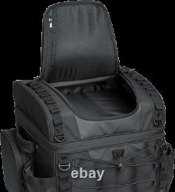 Kuryakyn 5285 Textile Black Momentum Vagabong Seat Rack Bag for Harley Davidson