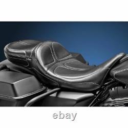 LePera Maverick Stitch Daddy Long Legs Seat 2 Up Touring 2008-2020 Harley Bagger