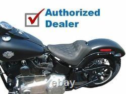 Mustang Wide Tripper Diamond Solo Seat 2011-2017 Harley Softail Slim & Blackline
