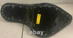 NOS Custom Chopper Harley Hardtail Chrome Studded Black Seat Vintage Leather 67