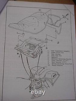 NOS Harley-Davidson FL, FLH Vintage Dresser Comfort Flex White Seat 1970's