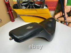 OEM Harley Badlander Seat'00-'17 Fat Boy, Softail Seat Feather Stitching