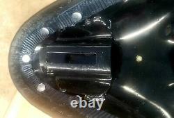OEM Harley Deluxe Leather Solo Saddle Seat, Panhead Shovelhead, Servi-Car