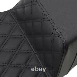 Saddlemen Black Extended Reach Step-Up Seat for 08-20 Harley Touring