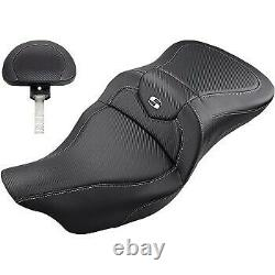 Saddlemen Road Sofa CF with Removable Backrest Seat for Harley Touring 08-20