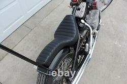 TC Bros. Hardtail Rigid Cobra Seat Black Pleated chopper sportster harley solo